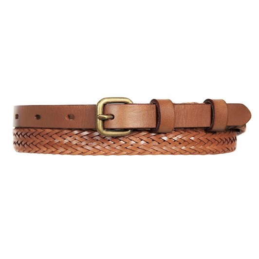 Status Anxiety Only lovers Left Tan Plaited Belt Small