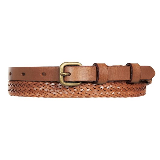 Status Anxiety Only Lovers Left Tan Plaited Belt ML