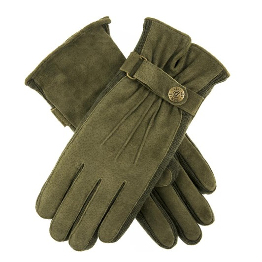 Dents Suede Glove With Knitted Side Walls & 3 Points