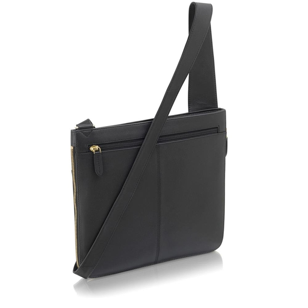 Radley Pockets Large Ziptop Cross Body Handbag Black -