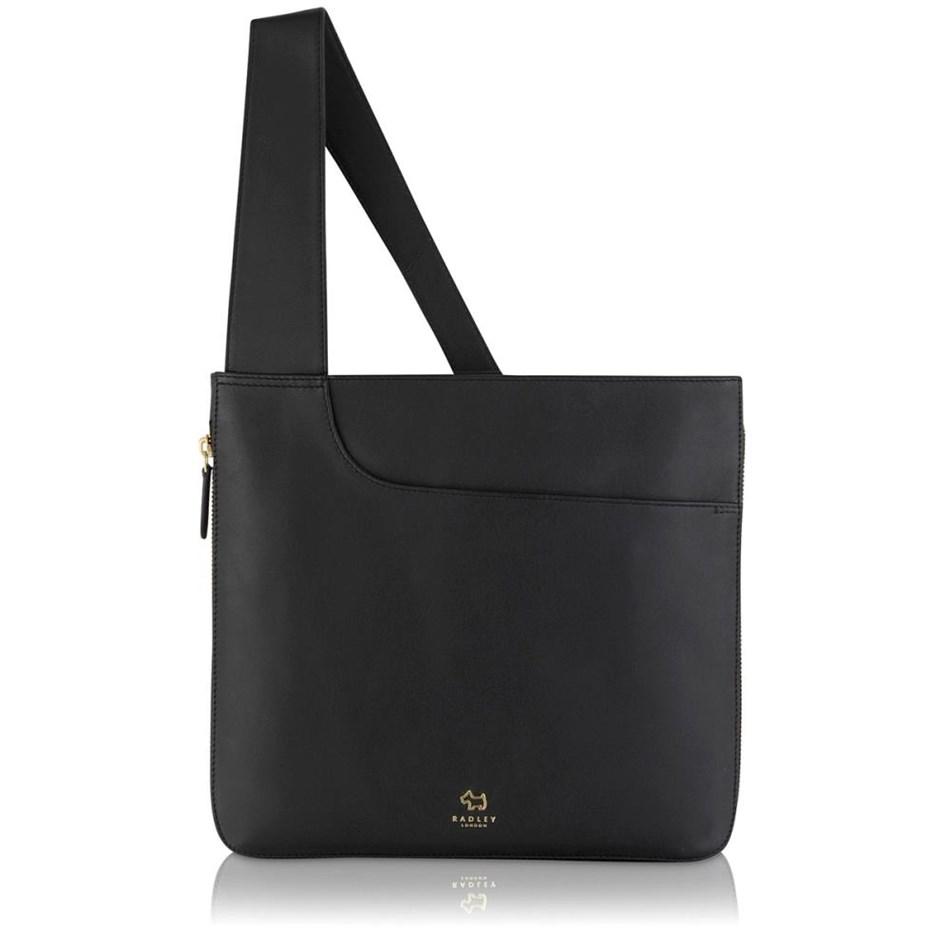 Radley Pockets Large Ziptop Cross Body Handbag Black - black