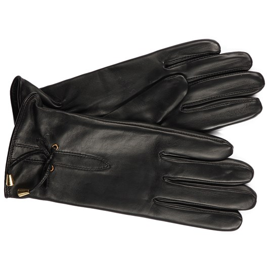 Ashwood Leather Glove With Bow Detail
