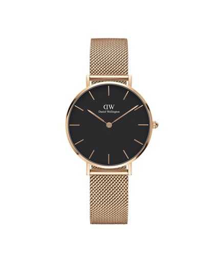 Daniel Wellington Classic Black Dial Melrose Rose Gold 32mm