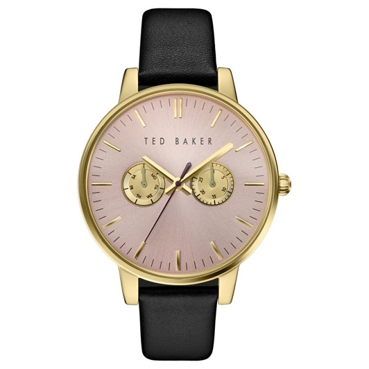 Ted Baker Watches Mltf Gldh Pnk Blk Strap