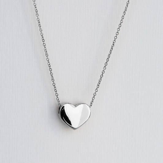 Love In A Jewel The Heart  Pendant (Silver) Plain