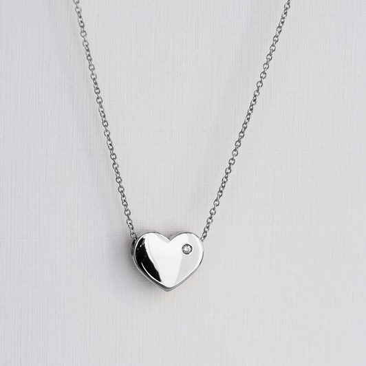 Love In A Jewel The Heart Pendant (Silver) with Crystal