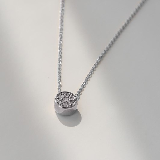 Love In A Jewel The Chic Pendant (Silver) with Crystal