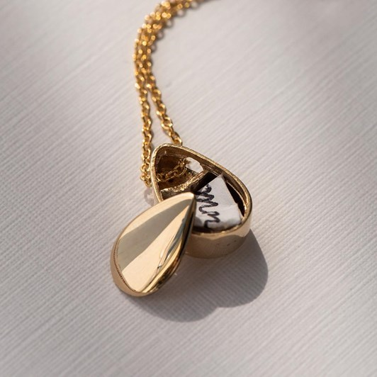 Love In A Jewel The Love Drop Pendant (Yellow Gold) Plain