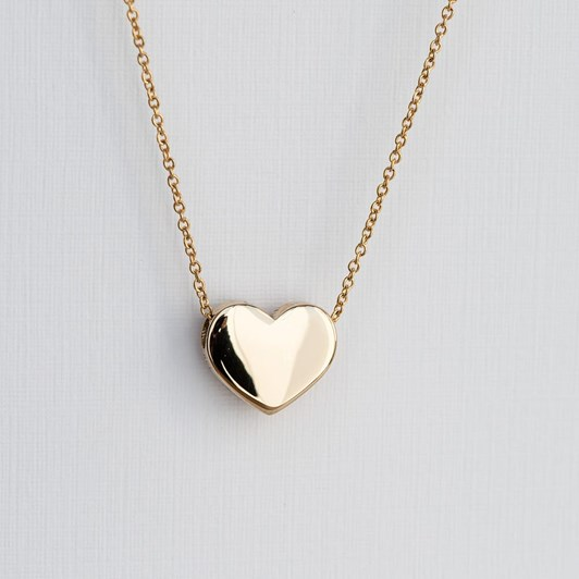 Love In A Jewel The Heart Pendant (Yellow Gold) Plain