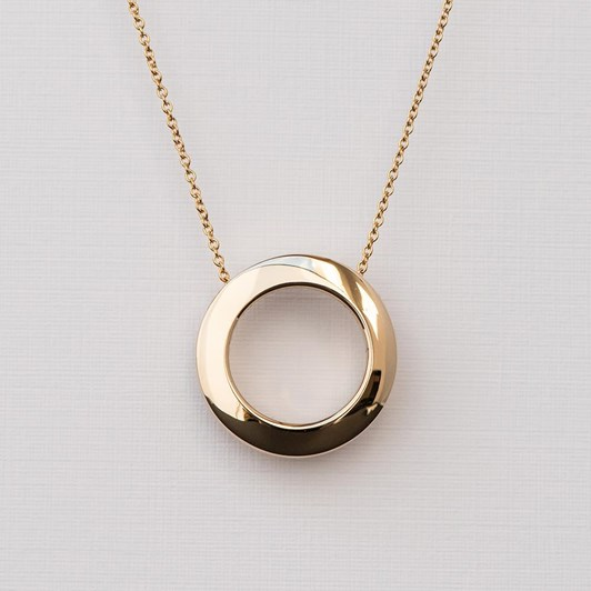 Love In A Jewel The Circle Of Love Pendant (Yellow Gold) Plain