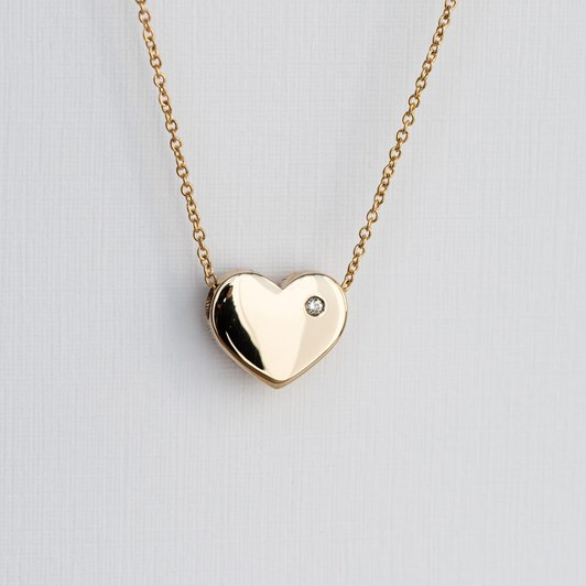 Love In A Jewel The Heart Pendant (Yellow Gold) with Diamond