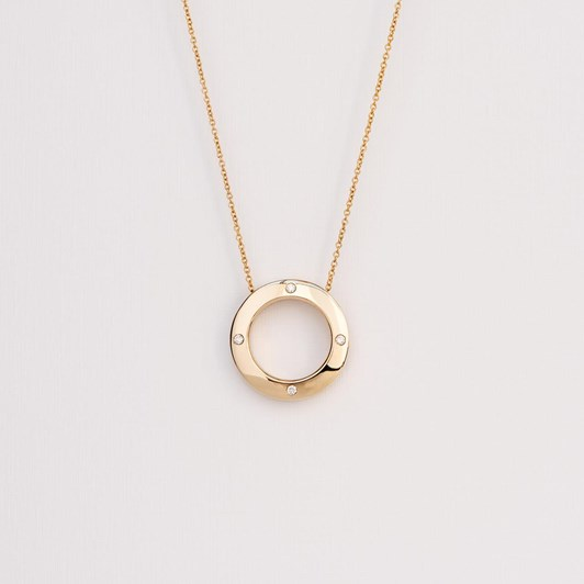 Love In A Jewel The Circle Of Love Pendant (Yellow Gold) with Diamonds