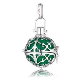 Engelsrufer  Silver Green Soundball Pendant Sml