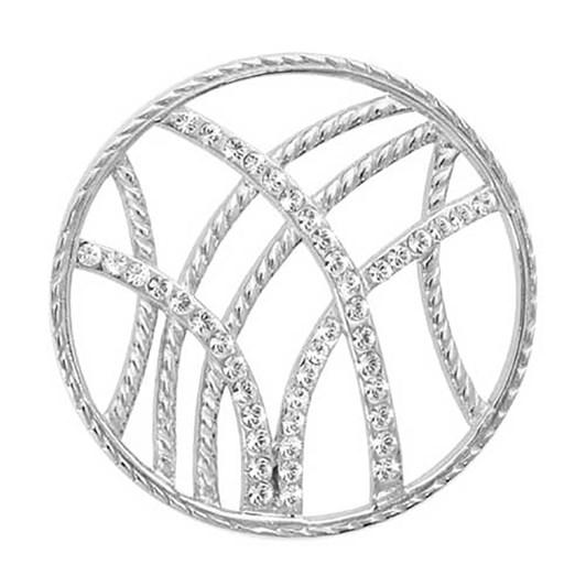 Nikki Lissoni Rebel Stripes Silv Plt 33Mm Coin