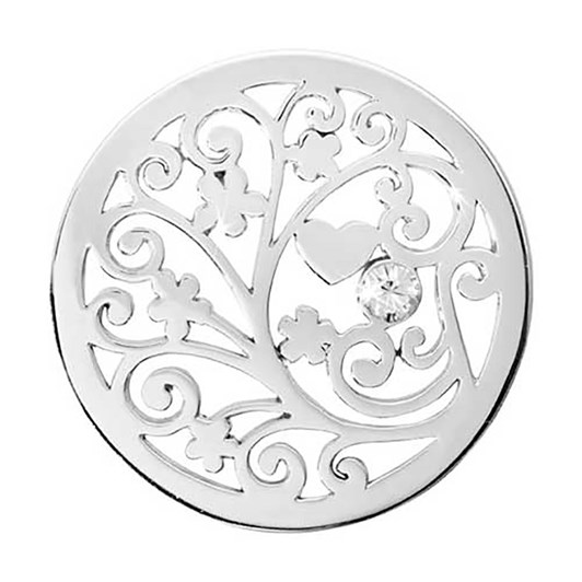 Nikki Lissoni Tree Of Love Silv Plt 33Mm Coin