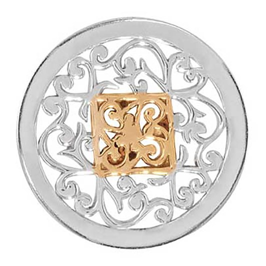 Nikki Lissoni Square Fantasy Silv Plt 23Mm Coin