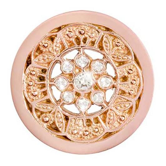 Nikki Lissoni Vintage Flower Rose G/P 23Mm Coin