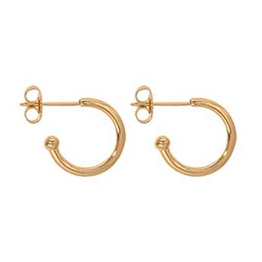 Nikki Lissoni Hoop G/P Earring 15Mm
