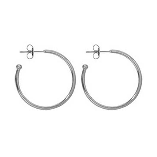 Nikki Lissoni Hoop Silv Plt Earring 20Mm