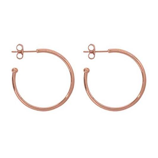 Nikki Lissoni Hoop Rosé G/P Earring 28Mm