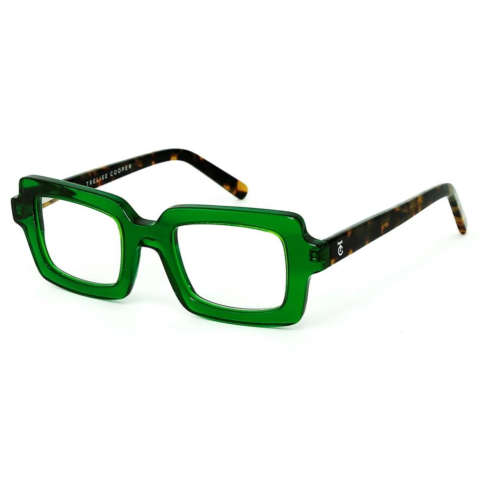 Trelise Cooper Square Dance - green brown tortoise