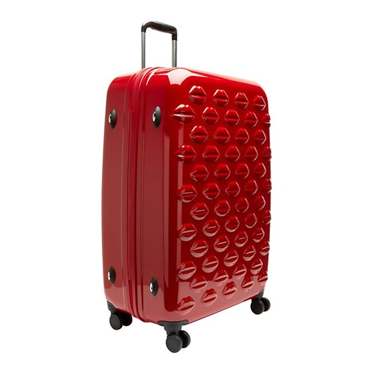 Lulu Guinness Large Lips Hardside Spinner Case