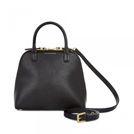 Lulu Guinness Small Grainy Leather Bobbi Handbag