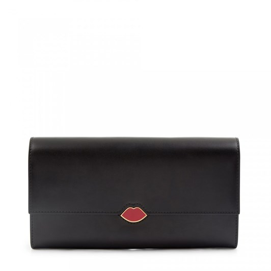 Lulu Guinness Lip Cut Out Trinity Wallet