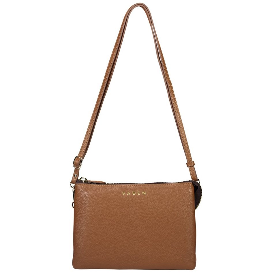 Saben Tilly's Big Sis Leather Handbag - chestnut