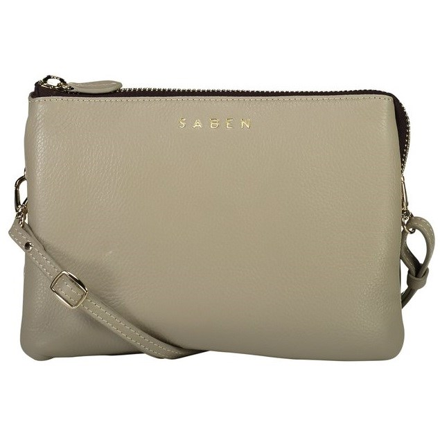 Saben Tilly's Big Sis Leather Handbag - linen