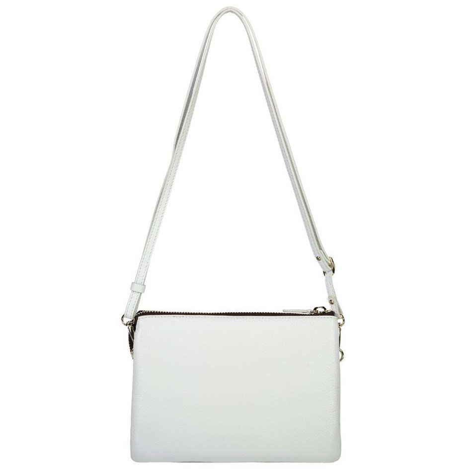 Saben Tilly's Big Sis Leather Handbag - white
