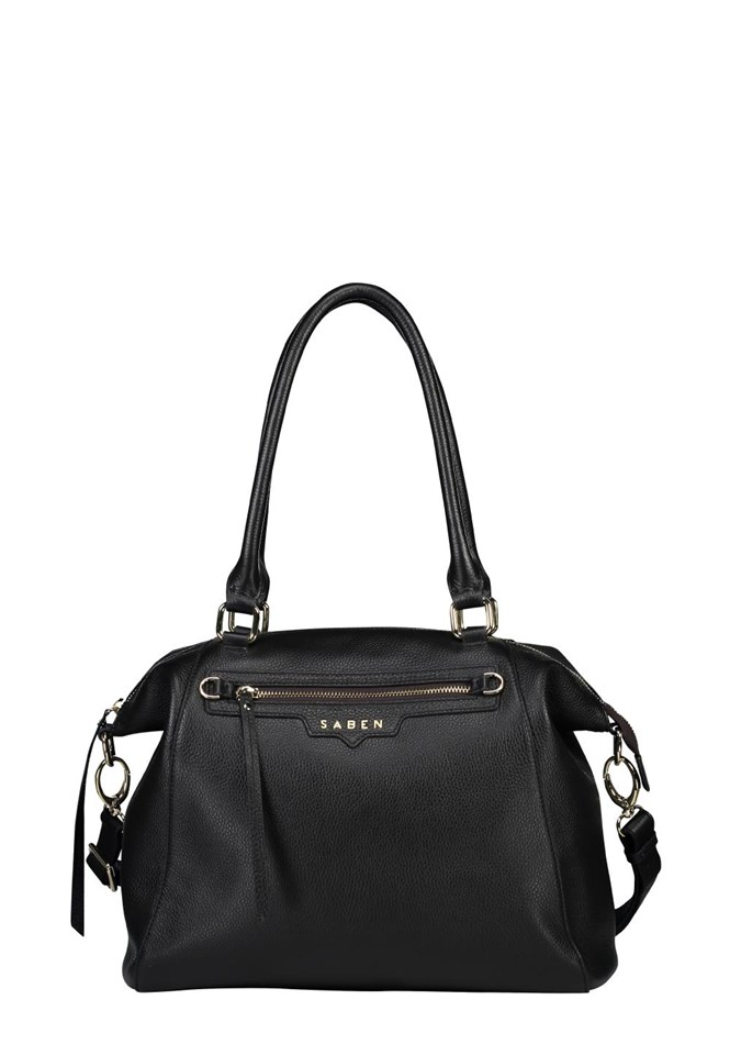 Saben Gita Leather Handbag - black