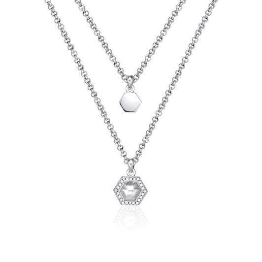 Kagi Geometry Layered Necklace - Sterling Silver