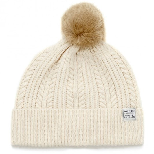 Joules Cable Bobble Hat