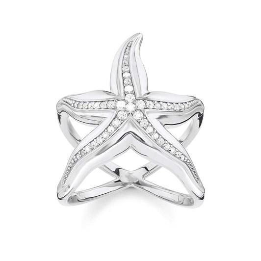Thomas Sabo #8 Ocean Starfish Cz Ring