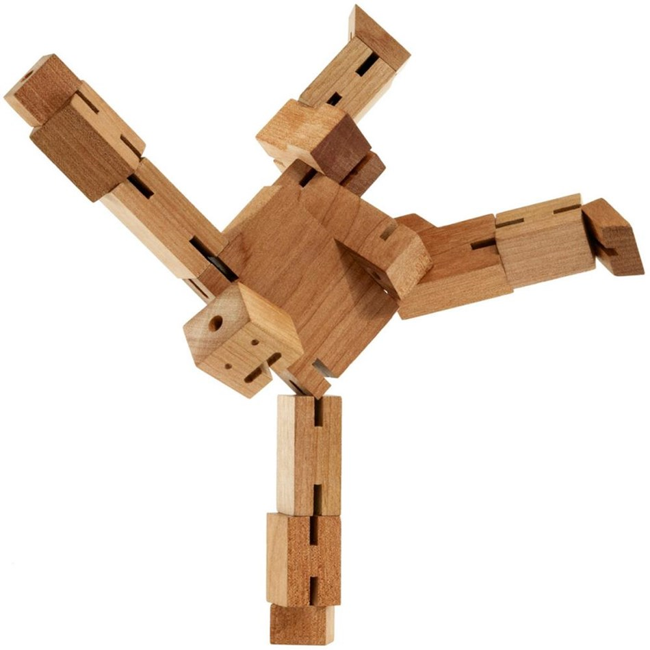 Areaware: Cubebot Medium - Natural - natural