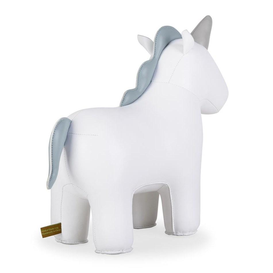 Zuny: Doorstop Unicorn White -