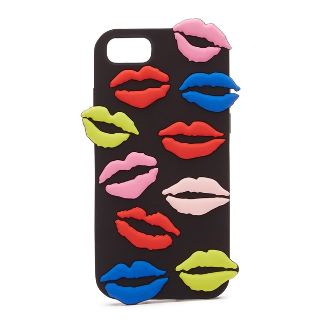 brand new d3a2a 9381d Women's Accessories - Lulu Guinness Lip Blot Iphone 6/7/8 Case Black ...