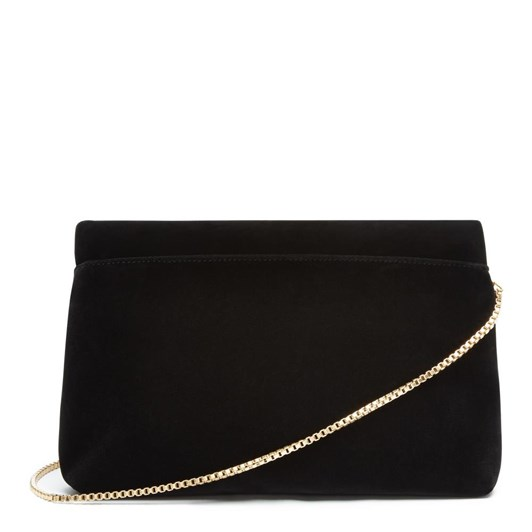 Lulu Guinness Velvet Half Covered Lip Issy Black Clutch