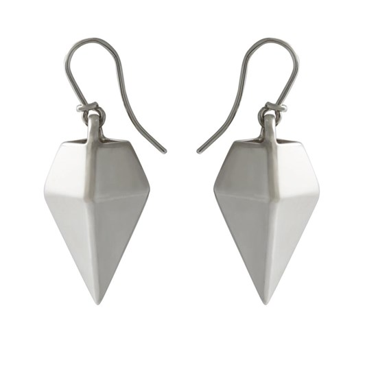 Black Matter Pyramid Earrings In Sterling Silver