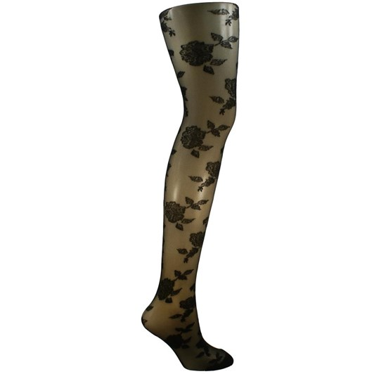 Columbine Garden Rose Tights