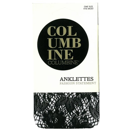 Columbine Floral Fishnet Anklet