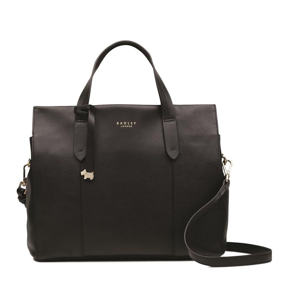 Radley Abbotsford House Medium Multiway Leather Bag - black