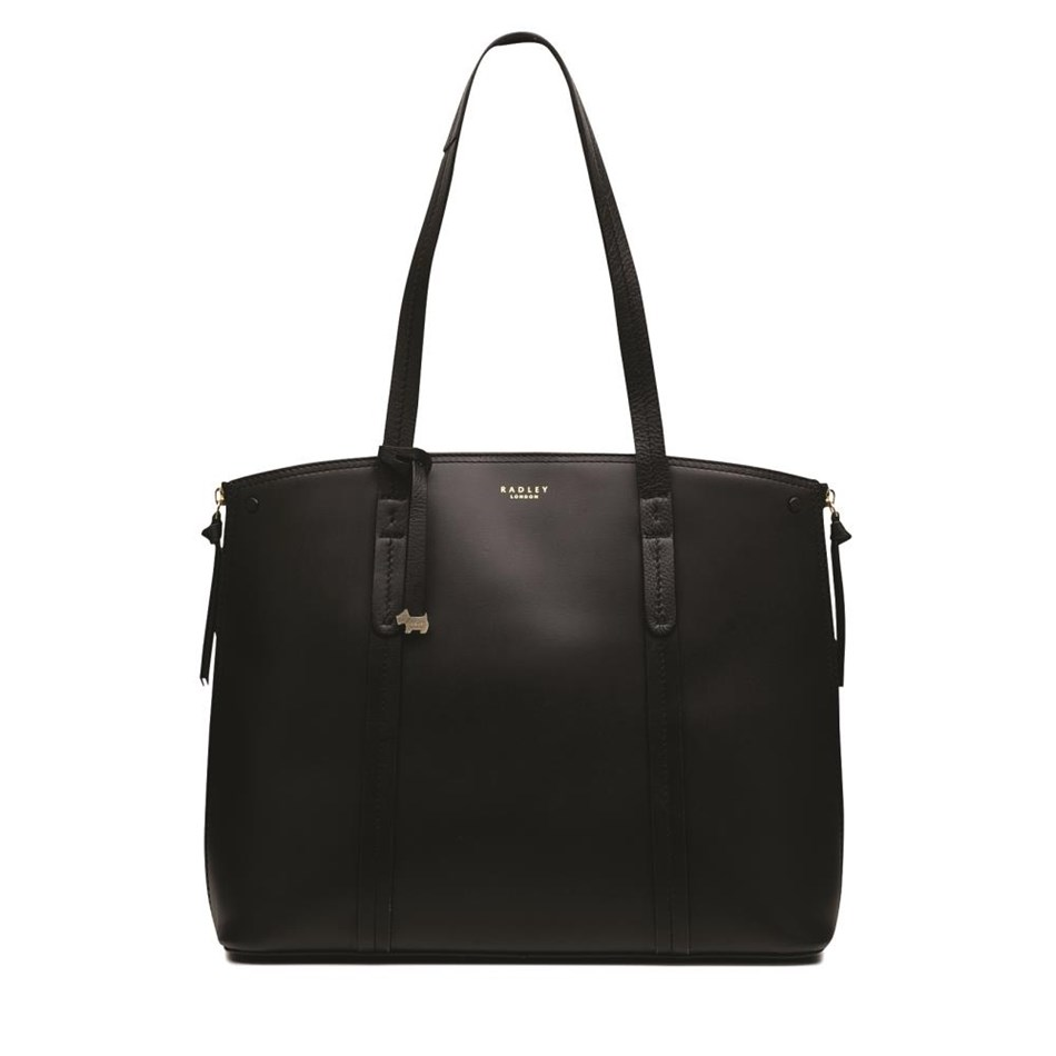 Radley Ashwick Court Large Tote Ew Shoulder Open Top Leather Bag - black