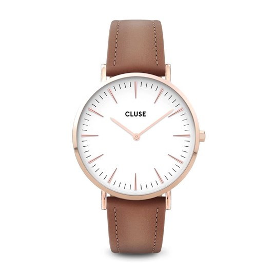 Cluse La Bohème Leather Rose Gold White/Caramel