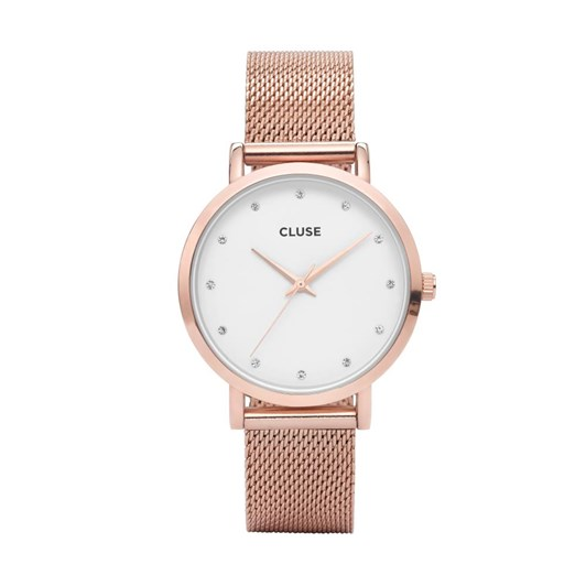Cluse  Pavane Rose Gold Stones Mesh Watch
