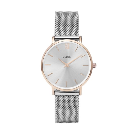 Cluse Minuit Mesh Rose Gold/Silver watches