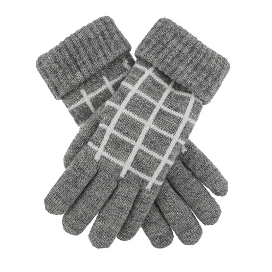 Dents Knitted Glove with check pattern