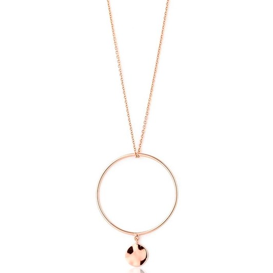 A.Haie Texture Mix Double Circle Necklace