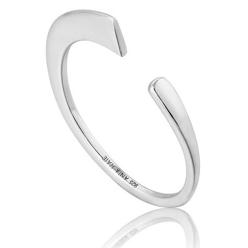 A.Haie Geometry Class Open Curved Ring